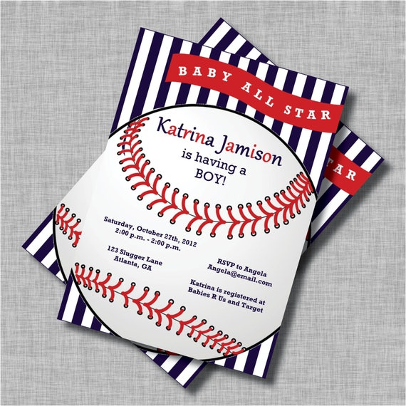 baseball baby shower invitations baseball baby shower, Baby shower invitations