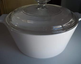Just White, Corning Ware, Buffet Server, 1 3/4 Quart with Lid B-1 3/4