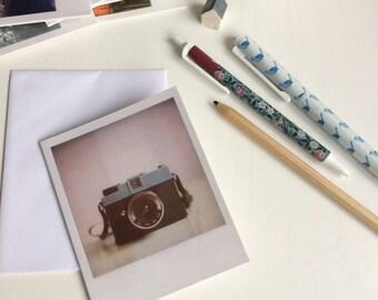 Diana camera - Polaroid notecard