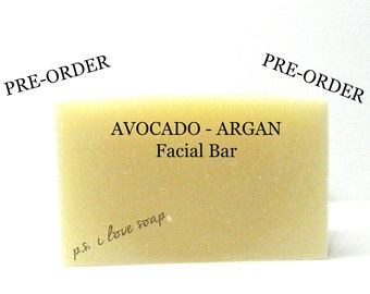 AVOCADO ARGAN Facial Soap l Moisturizing l Non-Drying l Lavender l Silk