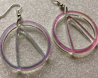 Vault Hunter Laser Cut Iridescent Borderlands Gaming Hoop Earrings