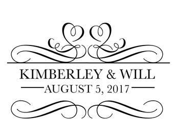 Custom Designed Digital Wedding Monogram Design, Wedding Logo, Scroll Gobo, Digital Wedding Monogram Printable, Logo Design for your Event