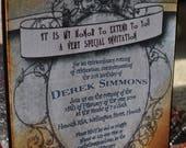 2 extra invites - Harry Potter Birthday Party Invitation