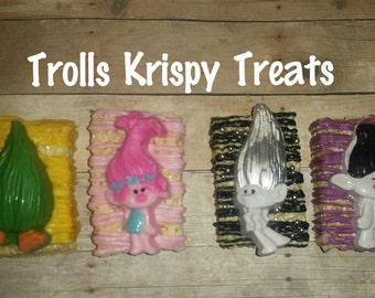 12 Trolls Krispy treats individually wrapped trolls party favors crispy treats