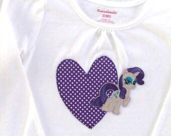 My Little Pony inspired Toddler Shirt / Applejack / Rarity/Fluttershy/Pinky pie