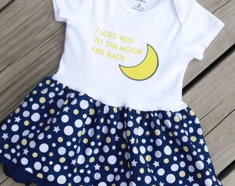 I Love You to the Moon and Back Baby Dress