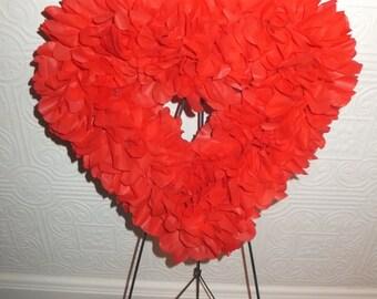 Red Heart Valentine Sweetheart Wedding Wreath