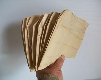 10 coffee stained envelopes for crafts . hand dyed papers . coffee dyed papers . papers for art journals . collage papers . junk journaling