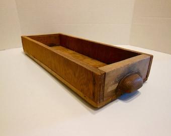rustic wood box, wood drawer, wood storage box, rustic organizer, man cave, craft room, hardware drawer, primitive