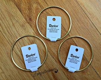 3 Inch Metal Ring, Metal Craft Ring,  3 Inch Metal Circle