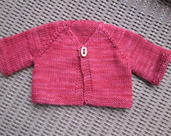 Doll Sweater, Hand knit from hand-dyed wool, fits 12 inch Waldorf style dolls