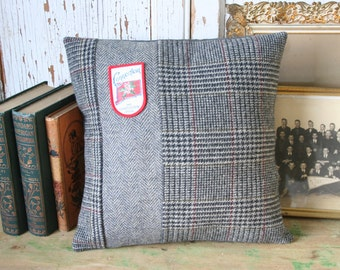 Wool Tweed Connecticut State PILLOW COVER - 14 Inch