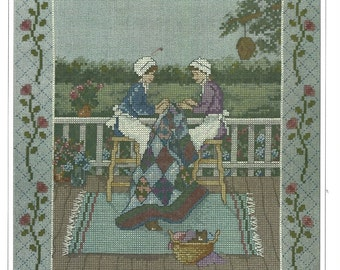 Quilting Counted Cross Stitch Kit The Design Connection Kit K8-1147 Ann Mount Artwork Adapted by Linda Bird Complete Quilting Sampler Kit