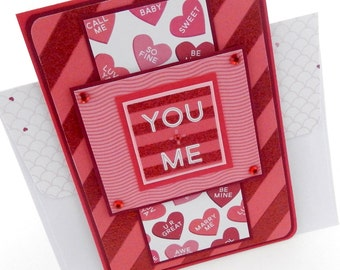 Valentine's Day You and Me Card with Matching Embellished Envelope
