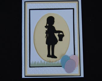 Gathering Easter Eggs - Card and Coordinating Envelope