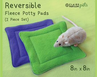 READY TO SHIP Reversible Fleece Potty Pads