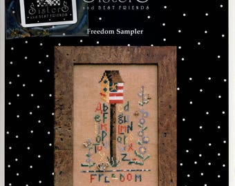 Sisters and Best Friends: Freedom Sampler - Cross Stitch Pattern and Embellishment Pack