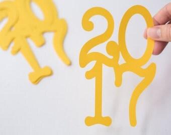 12 Jumbo Graduation Confetti // 2017 // Party Decorations // Grad // Prom // 12 pieces // 5.5 inches