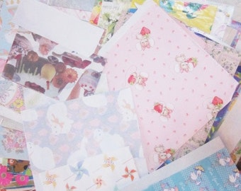 Destash Vintage Wrapping Paper - Large Lot Assorted Gift Wrap for crafting - Over Two Pounds