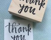 Thank You Rubber Stamp 6654
