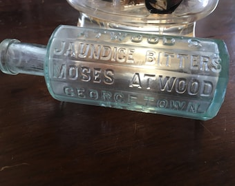 Antique bottle 1890s Atwoods jaundice bitters Moses Atwood Georgetown mass