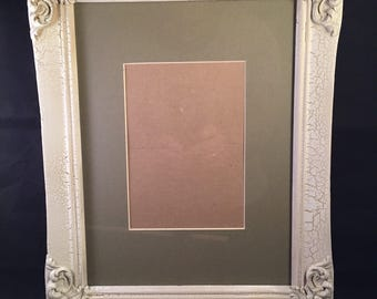 Beautiful Antique Victorian Gesso Picture Frame 8 x 10 matted for 5 x 7