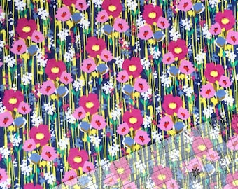 Mimosa Daisies Snuggle Flannel Fabric By The Yard