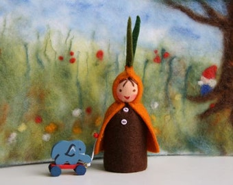 Root child / seedling / flower child / Waldorf