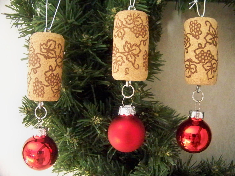 Wine Cork Christmas Ball Ornaments