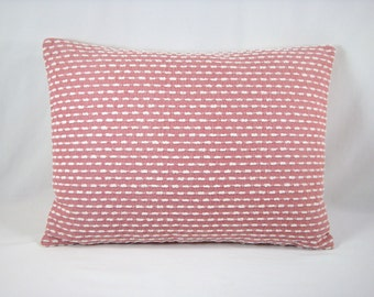 Upholstery Lumbar Pillow Coral and Chenille Decorative Pillow Accent Pillow  Modern Pillow 13x18 Cover Only