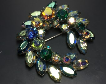 Sherman Brooch .  Sherman Rhinestone Brooch.   Sherman Jewelry NO.00799 hs