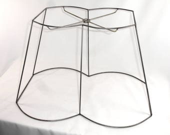 Lamp Shade Frame Custom Handmade Out Scallop Rectangle Design Made In NYC