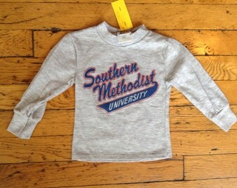 1980's Southern Methodist University t shirt USA toddler 2
