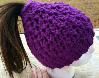 Cute Crochet Ponytail Hats/Winter Hat/Beanie