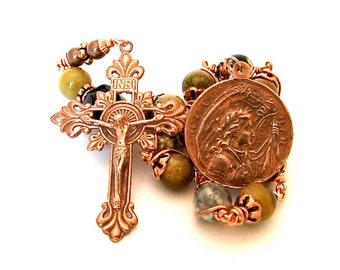 Unbreakable single Decade Rosary of The Virgin Mary, Christ Child and Saint Joan Of Arc