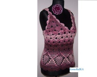 hand knitted top mohair