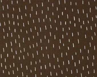 Merrily Just a Dash in Chocolate Brown,  Gingiber, 100% Cotton, Moda Fabrics, 48214 18