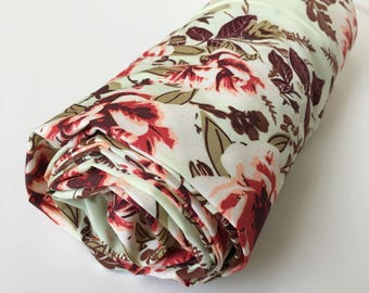 Rustic Nursery Girl / Floral Crib Bedding, Baby Girl Bedding Mini Crib Sheet, Floral Baby Bedding, Fitted Crib Sheet, Changing Pad Cover