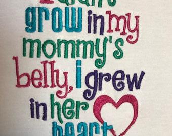 Grew In Her Heart Adoption Tee T shirt