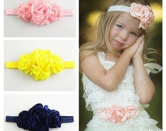 Set of 12 flower headband, Infant Headband, fabric headband, Baby headbands, Baby girl headband, toddler headband- 12 colors to choose