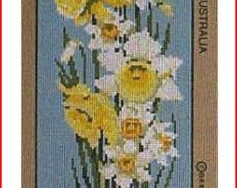 Floral Needlepoint Canvas: Daffodils NEW