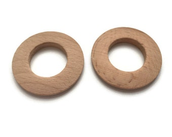 2 Large Wooden Hoops, Unfinished Wooden Hoops W 70 057