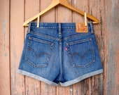Women's High Waisted Levi Shorts, LEVI'S Denim