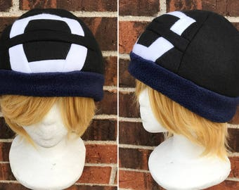 Pokemon Sun and Moon Male or Boy Version Trainer Hat  - Fleece Hat Adult, Teen, Kid - A winter, nerdy, geekery gift!