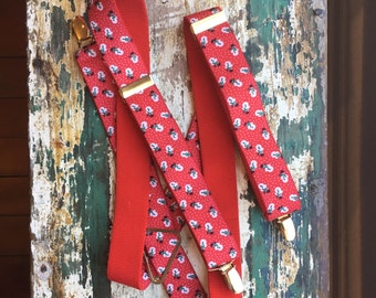 Vintage Frostey the Snowman Suspenders Novelty Christmas Accessory