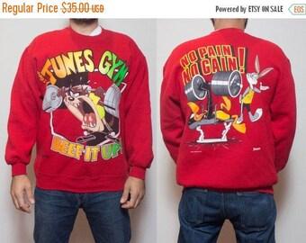 SALE XL | 90's Vintage Looney Tunes Sweatshirt Crewneck Tunes Gym