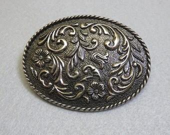 Traditional Oval Western Belt Buckle, Big, Bold, IVAN Company