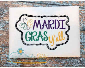 Mardi Gras Y'all Applique