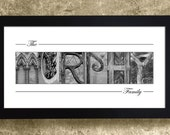 Alphabet Photography Letters, Family Name Print, Last Name Sign, Gift for Mom, Gift for Her, Christmas Gift for Mom, Gift for Grandma