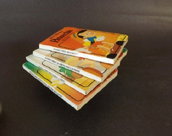Vintage Little Library of Pinocchio, Walt Disney, Children's Books, Children's Story, Set of 4 Books, Literary Classic, Small Books